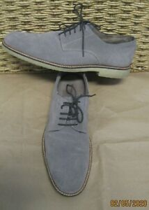 Banana Republic Men's Gray Suede Dress Oxford Shoes Size 11.5 M