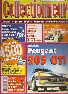 LE NOUVEAU COLLECTIONNEUR 1 PEUGEOT 205 GTI 1.6 & 1.9 FERRUCIO LAMBORGHINI
