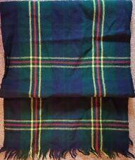 Ladies Mens Scarf VINTAGE Country Check Wool Nova Retro Green/Blue/Red/Yellow V2