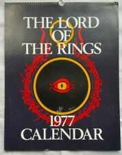 Lord Of The Rings 1977 Calendar With Envelope Cover