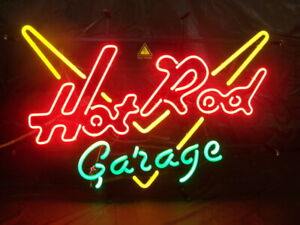 "Hot Rod Garage 20""x16"" Neon Sign Lamp Bar With Dimmer"