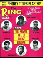 THE RING  BOXING MAGAZINE OCTOBER 1973 HEAVYWEIGHTS