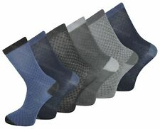 80d1d583d101c 12 Pairs Fresh Feel Mens Adults DESIGNER Cotton Formal Suit Socks UK 6-11  8shade