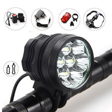9000Lm 7x T6 LED Front Head Bicycle light Bike Lamp Headlight Rearlight 12000mAh