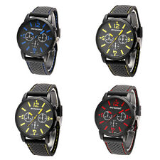 Men's Fashion Quartz Silicone Band Stainless Steel Sports Wrist Watch Ideal