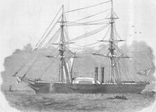 SHIPS. Governole, built for Sardinian Govt, antique print, 1850
