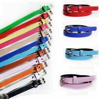 Women Fashion Lady Girls Thin Skinny Waist Belts Patent Leather Narrow Waistband