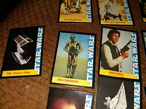 1977 Star Wars Vintage Wonder Bread Complete 16 Trading Card Set VG+