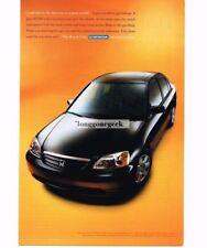 2001 Honda CIVIC Black 4-door Sedan Vtg Print Ad
