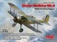 ICM 32041 -1/32 Gloster Gladiator Mk.II, WWII British Fighter Plastic Model