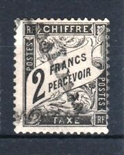 "FRANCE STAMP TIMBRE TAXE YVERT N° 23 "" TYPE DUVAL 2F NOIR "" OBLITERE TB T246"