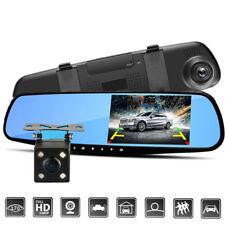 "HD 1080P In-Car Rear View Mirror 4.3"" Monitor Dash Cam Recorder Camera Dual lens"