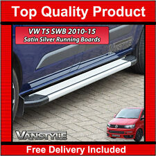 VW T5 SIDE STEPS SWB TRANSPORTER RUNNING BOARD SIDE BARS 2010-15 CARAVELLE VAN
