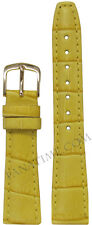16mm Hadley Roma LS135 Ladies Yellow Leather Gator Grain Watch Band 105/65