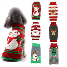 Christmas Dog Clothes Knitted Jumper Sweater For Small Large Dogs Chihuahua XXS