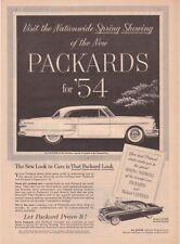 1954 Packard Pacific & Clipper Panama Hardtop Illustration vintage print ad