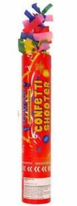 Party CONFETTI Cannons Poppers Shooter Wedding New Years Large 38cm Celebration