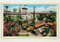 Riverside California Postcard CA Glenwood Tavern Mission Inn Cars Court 1920's