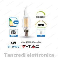 Lampadina led V-TAC dimmerabile 4W = 30W E14 bianco caldo 2700K VT-1997D fiamma