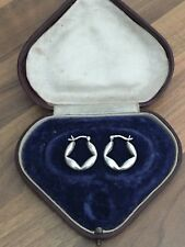Beautiful Pair Of Marked Sterling Silver Hoop Style Earrings 3.46gr