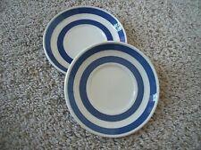 "2 Vintage Classic Staffordshire Chef Ware Blue & White 5 1/4"" Plates"