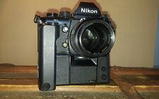 Nikon F3 35mm SLR Film Camera with 50 mm lens and MD-4 Motor Drive
