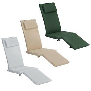 Garden Deck Steamer Chair Cushion Seat Pad Sun Lounger Pool Patio Recliner