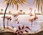 Flamingo Tango by Turner (: Art Print of Vintage Art :)