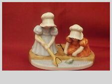 Sun Bonnet Babies Figurine Royal Bayreuth Japan Sunday Sonntag Fishing Excellent