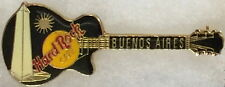Hard Rock Cafe BUENOS AIRES Black Les Paul Guitar with OBELISK PIN - HRC #1389