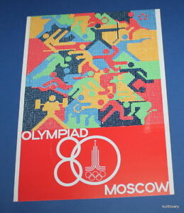 USSR 1980 Vintage poster Olympic Games moscow Philippines  placad art Olympiad