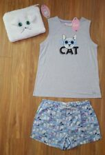 PETER ALEXANDER PJS Women Cool Cat Set Ladies Top & Shorts PJ Kitty XS GIFT BOX
