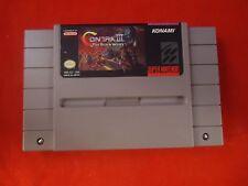 Contra III: The Alien Wars (Super Nintendo SNES 1992) game WORKS! Contra 3