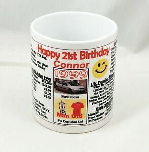 SPECIAL 21ST BIRTHDAY MUG - 1999 - THE YEAR YOU WERE BORN - Ideal Keepsake Gift.