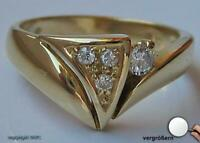 Damen Finger Ring mit Brillanten Diamond Diamanten Gold Briliant 14 Kt. .