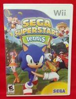Sonic Hedgehog Tennis Superstars - Nintendo Wii Game Complete 1 Owner Mint Disc