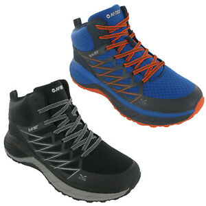 Hi-Tec Mens Walking Boots Trail Destroyer Lightweight Hiking Mesh Lace Up UK7-13