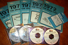 1972 Ford Mustang Lincoln Montego Thunderbird Comet Cougar Shop Manuals Mercury