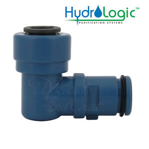 """Hydro-Logic 3/8"""" Quick Connect Elbow, HL 23100, for Merlin GP & Evolution RO1000"""
