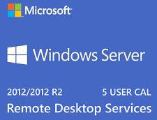 Microsoft Windows Server 2012 R2 Remote Desktop Services 5 USER CAL License
