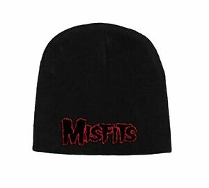 Misfits Beanie Hat Cap classic Red band Logo new Official black One Size