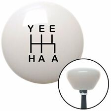 Black YeeHaa 5 Speed White Retro Shift Knob fits motorsport octane truck ford mu