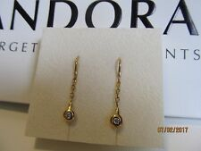 Authentic LOVEPODS Pandora 18K gold genuine Diamond drop earrings ultra rare