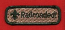 RAILROADED Spoof Comic Trained Patch Boy Cub Scout Leader