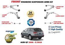 FOR AUDI Q7 2006-6/2010 FRONT LOWER UPPER SUSPENSION WISHBONE ARM + LINK BAR KIT