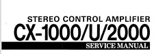 YAMAHA CX-1000, CX-1000/U, CX-2000 Service Manual, Repair Techniques, Schematic