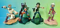 DISNEY INFINITY Star Wars Han Solo Obi Wan Boba Ahsoka 1.0 2.0 3.0 Figure Lot