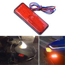 1Pc 24 SMD LED Car Motorcycle Square Reflector Tail Brake Turn Signal Light Lamp