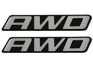 2 New OEM AWD Front Door Rear Hatch Truck Logo Emblem Badge Nameplate Decal Van