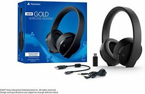 Sony PlayStation Gold Wireless Headset 7.1 Surround Sound PS4 - Black